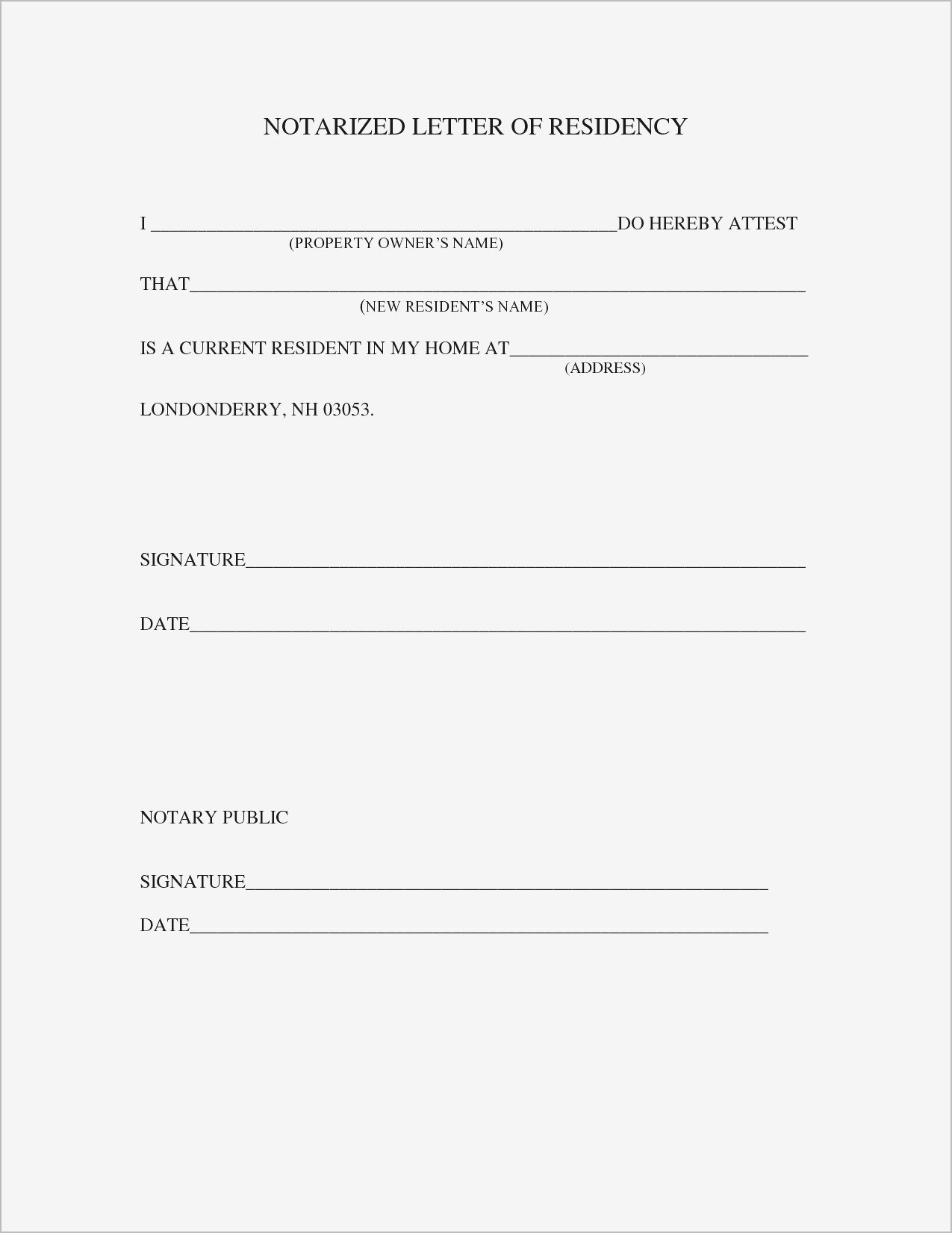Notarized Letter Of Residency How to Get A Letter Notarized