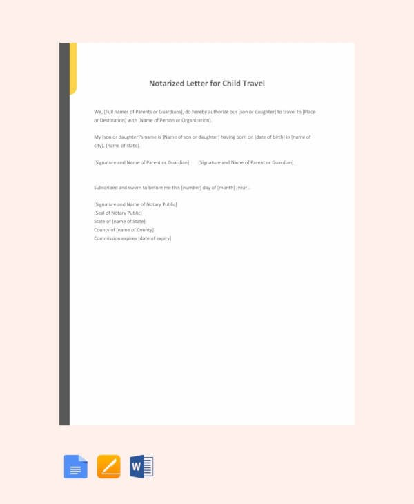 Notarized Letter Template Word 10 Sample Notarized Letters Pdf Word