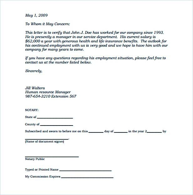 Notarized Letter Template Word 16 Notarized Letter In Brief