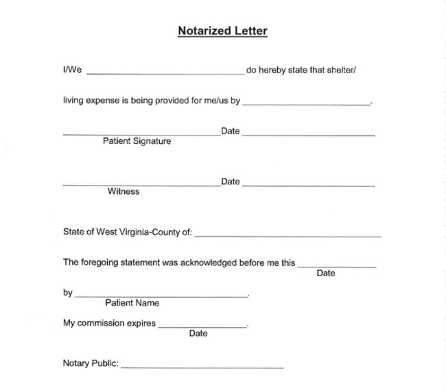 Notarized Letter Template Word 25 Notarized Letter Templates Sample Letters In Word