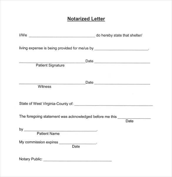 Notary Signature Block Template 32 Notarized Letter Templates Pdf Doc