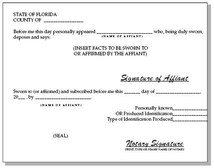Notary Signature Block Template Notary Public Florida