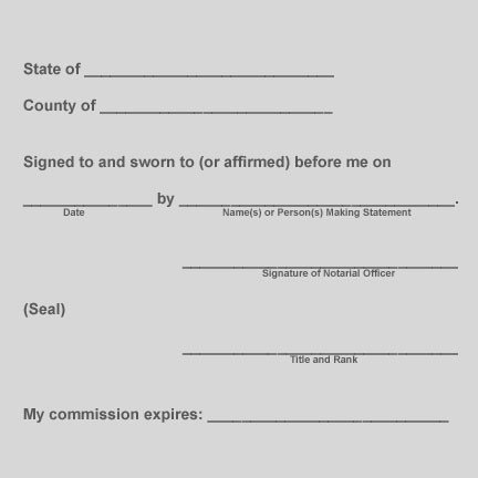 Notary Signature Block Template the Notary Should Also Confirm that the attorney In Fact