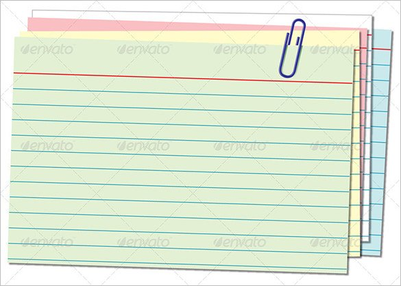 Note Card Template Free 10 Index Card Templates Jpg Vector Eps Illustrator