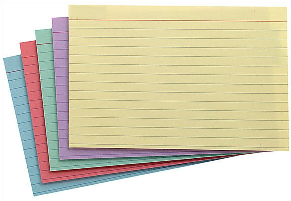 Note Card Template Free 9 Index Card Templates Jpg Vector Eps Illustrator