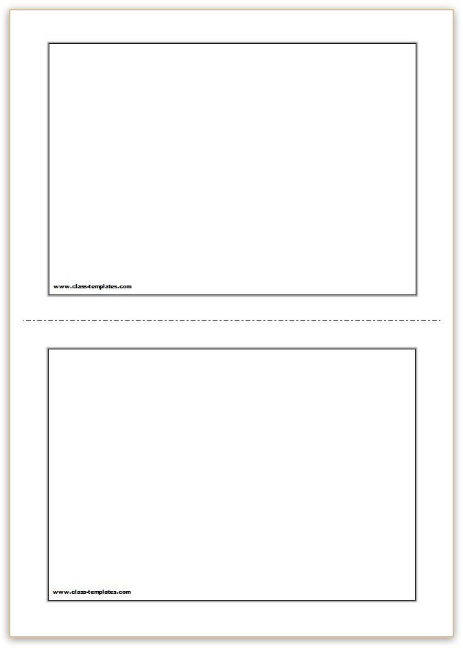 Note Card Template Free Flash Card Template