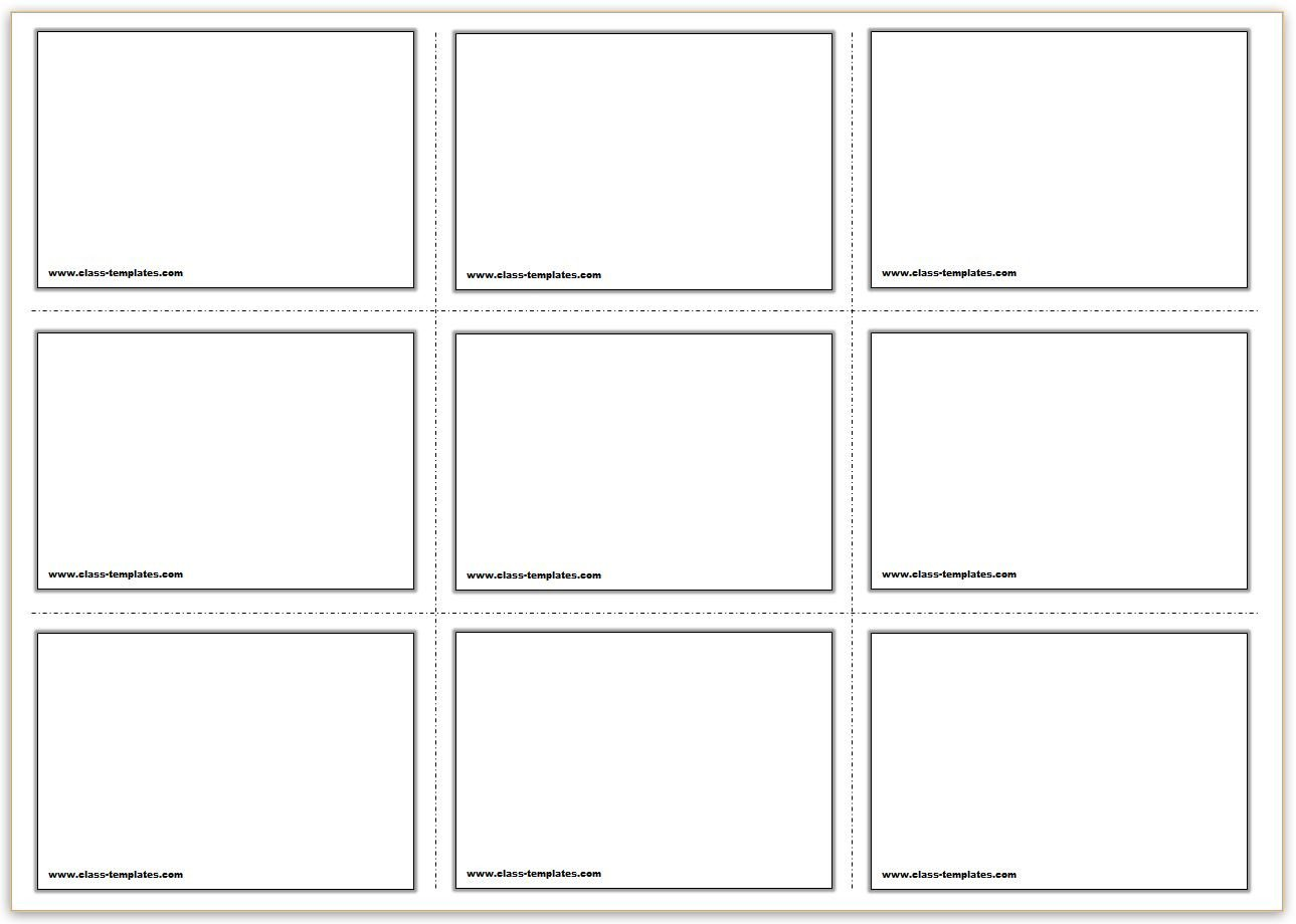 Note Card Template Free Free Printable Flash Cards Template