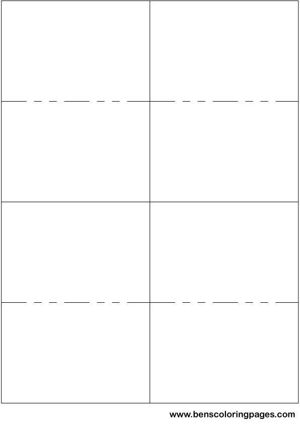 Note Card Template Free Printable Small Flashcard Template