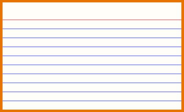 Note Card Template Word Blog Posts Colorsblogging
