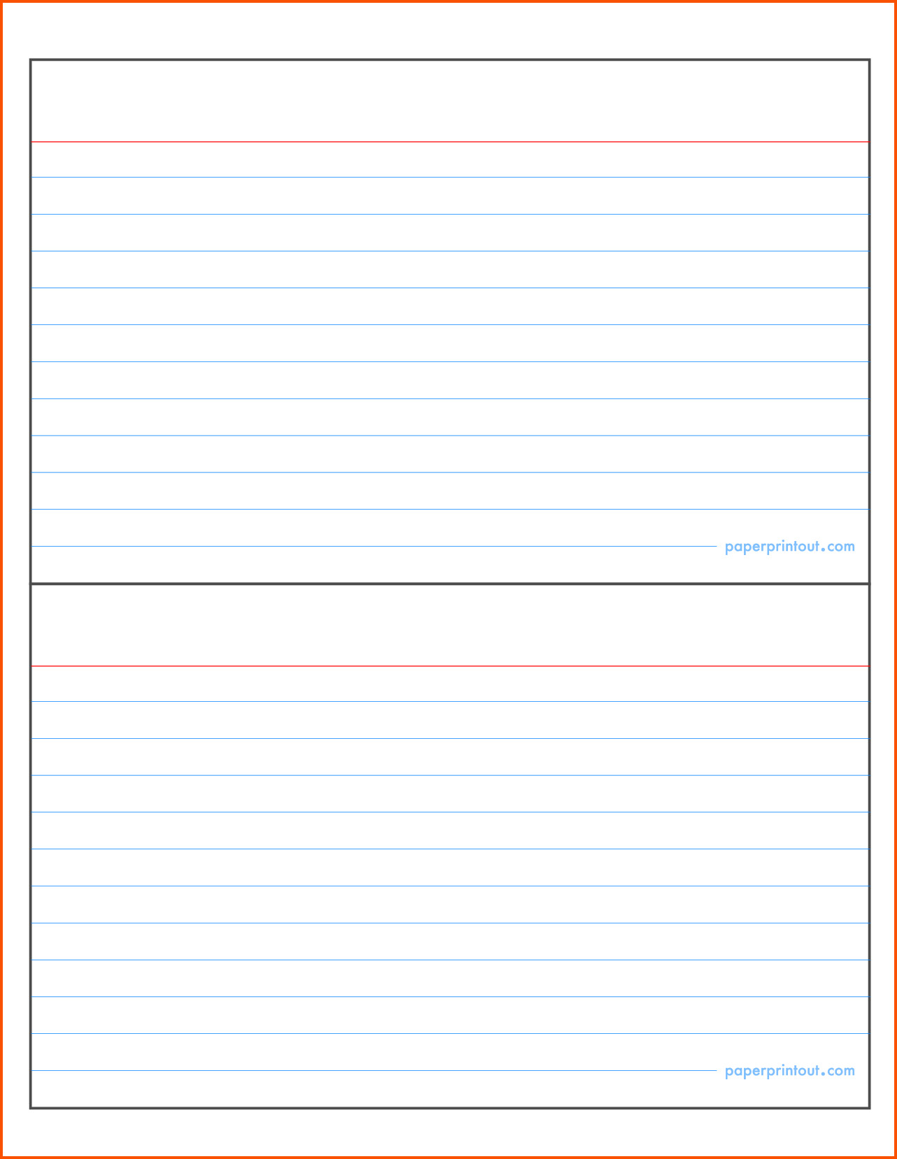 Note Card Template Word Index Card Template