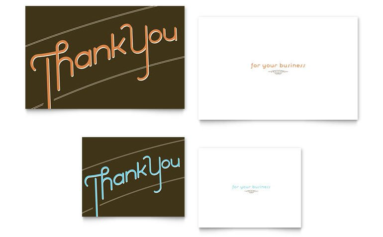 Note Card Template Word Thank You Note Card Template Word & Publisher