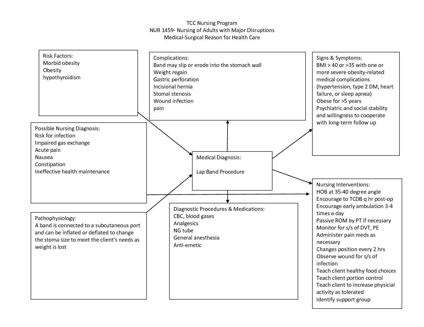 Nursing Concept Mapping Template Nursing Diagnosis Concept Maps