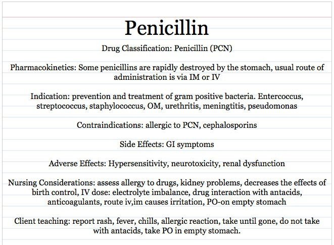 Nursing Drug Card Template Vocational Nursing Resources Penicillin Card Sample