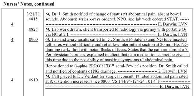 Nursing Progress Notes Examples 28 Of Nursing Documentation Examples Template