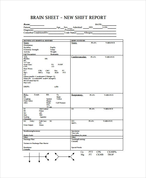 Nursing Shift Report Template 10 Shift Report Templates Word Pdf Pages