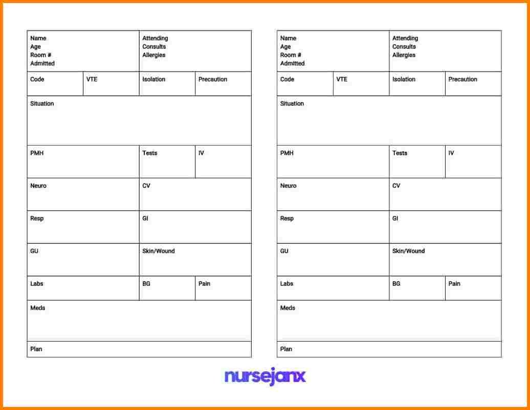 Nursing Shift Report Template 6 Nursing Shift Report Template