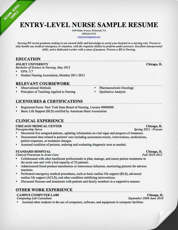 Nursing Student Resume Template Nursing Resume Sample & Writing Guide