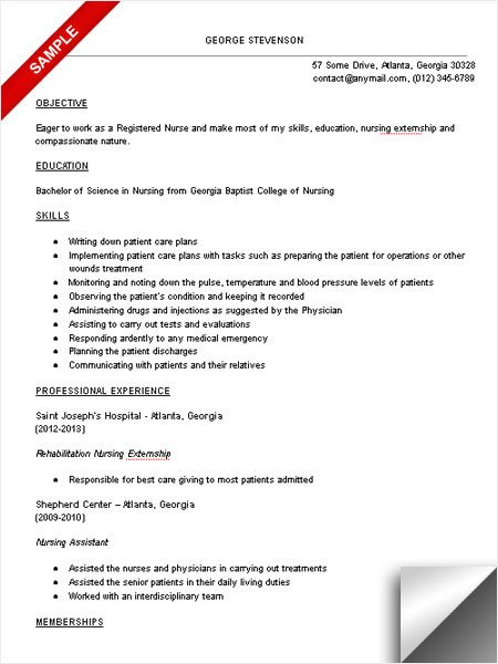 Nursing Student Resume Template Nursing Student Resume Sample
