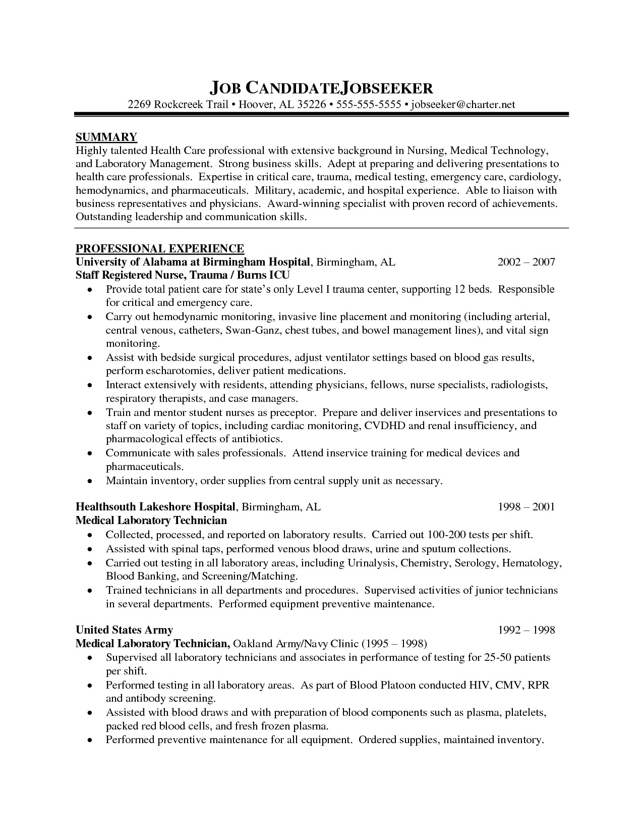 Nursing Student Resume Template Nursing Student Resume Template