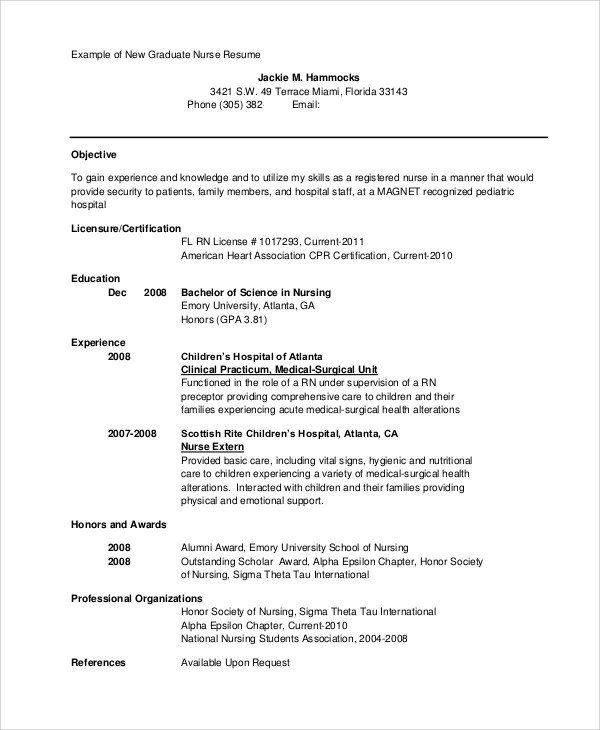 Nursing Student Resume Template Sample Nursing Student Resume 8 Examples In Word Pdf