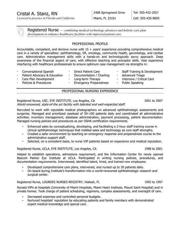 Nursing Student Resume Templates New Grad Rn Resume Nurse Resume Service