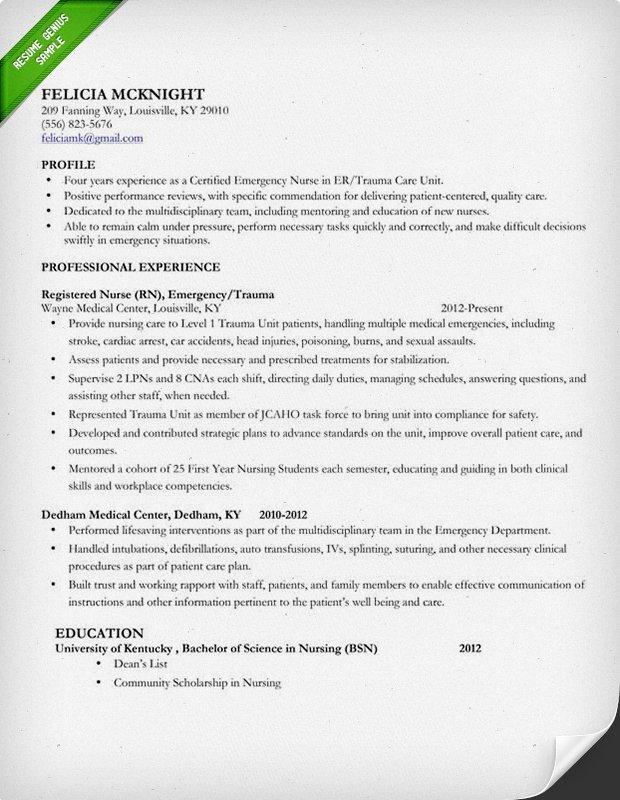 Nursing Student Resume Templates Nursing Resume Sample & Writing Guide
