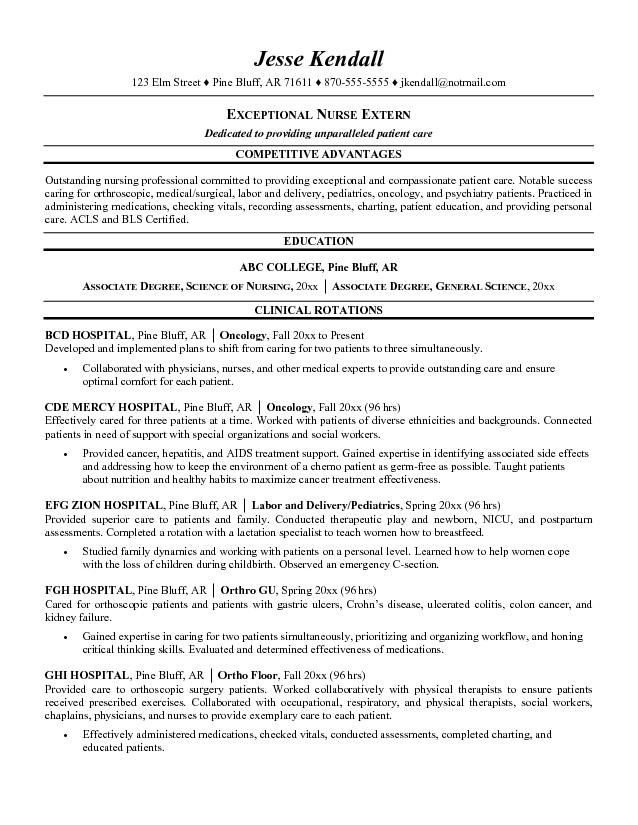 Nursing Student Resumes Examples Nursing Student Resume Examples