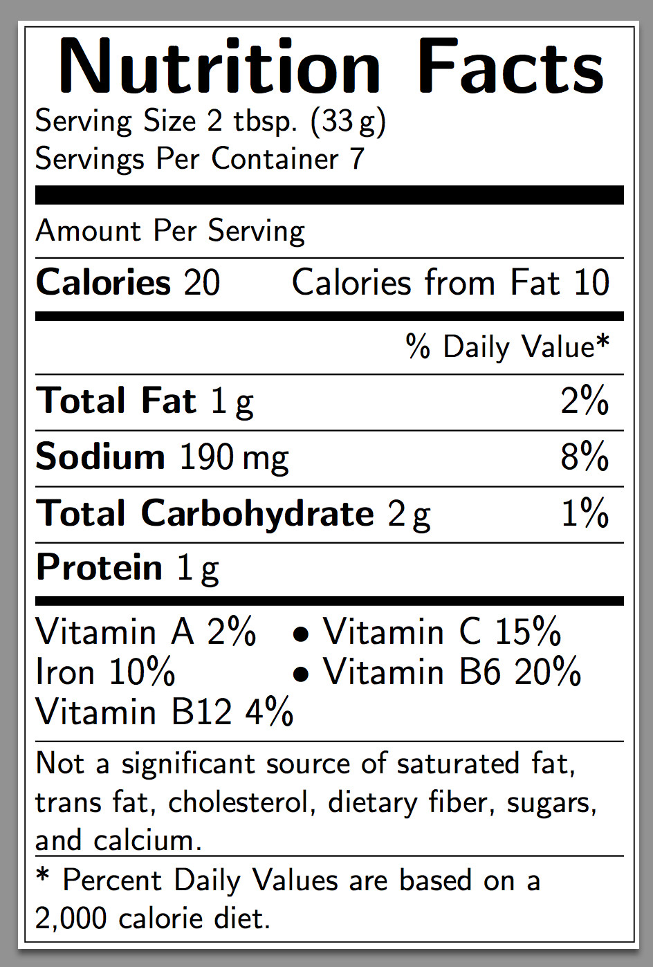 Nutrition Facts Template Word Diagrams How Can I Create A Nutrition Facts Label