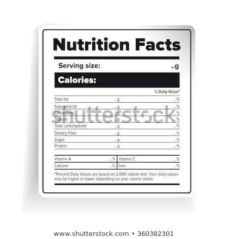 Nutrition Facts Template Word Fact Stock Royalty Free & Vectors