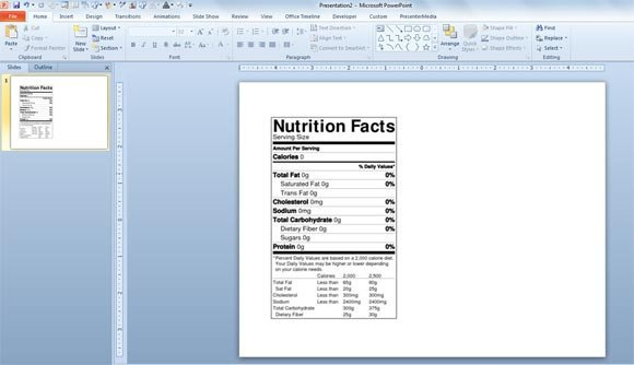 Nutrition Facts Template Word How to Make A Nutrition Facts Label for Free for Your