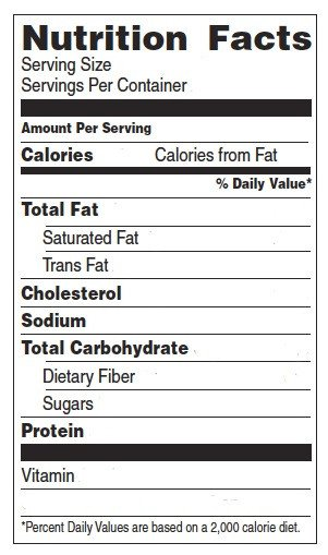 Nutrition Facts Template Word Nutrition and Games
