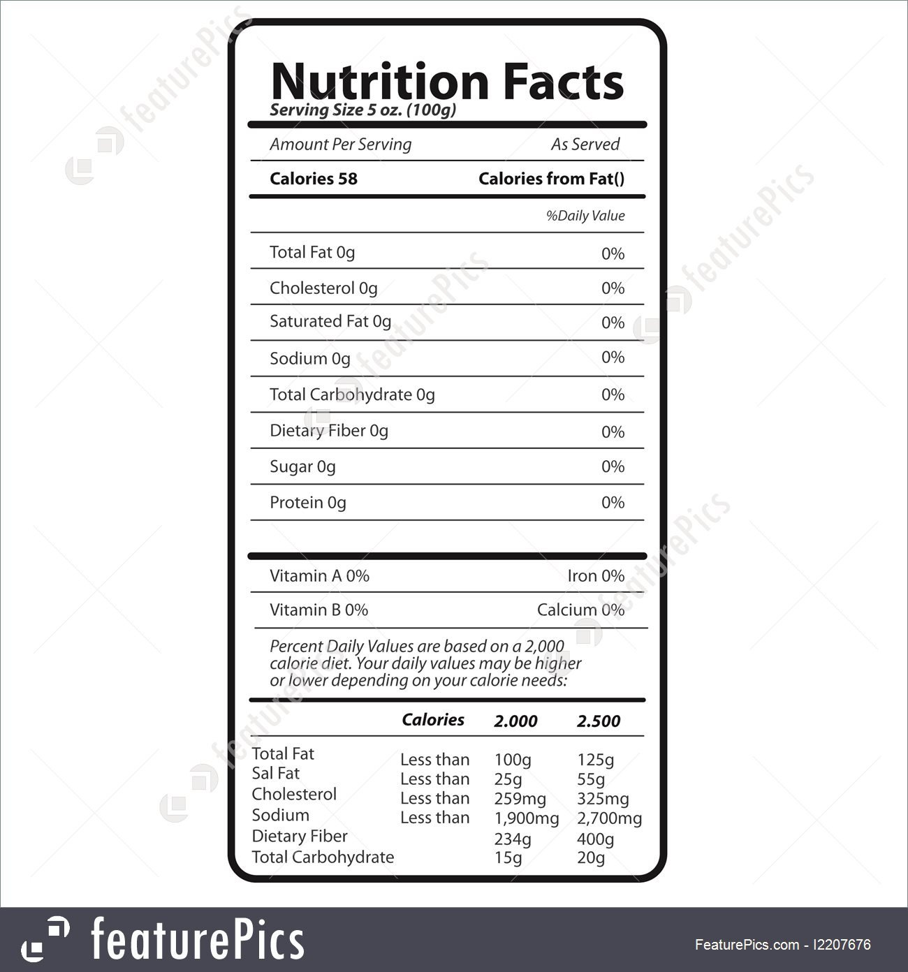 Nutrition Facts Template Word Nutrition Facts Illustration