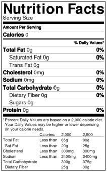 Nutrition Facts Template Word Nutrition Facts Label Nutrition Facts Templat