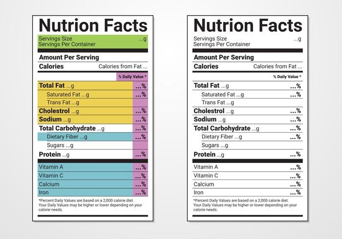 Nutrition Label Template Excel Nutrition Facts Label Vector Templates Download Free