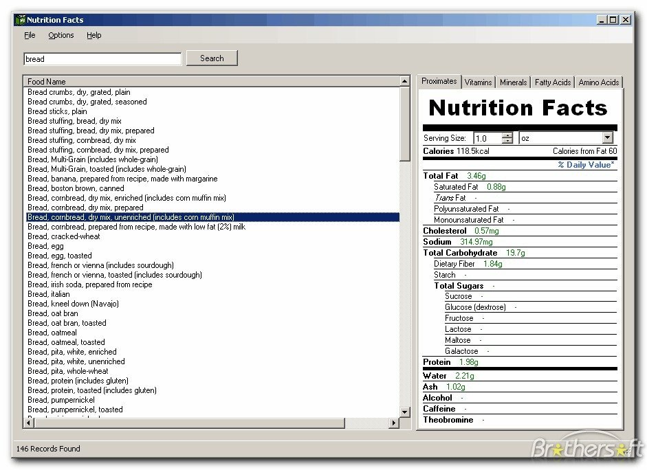 Nutrition Label Template Excel Nutrition Facts Template