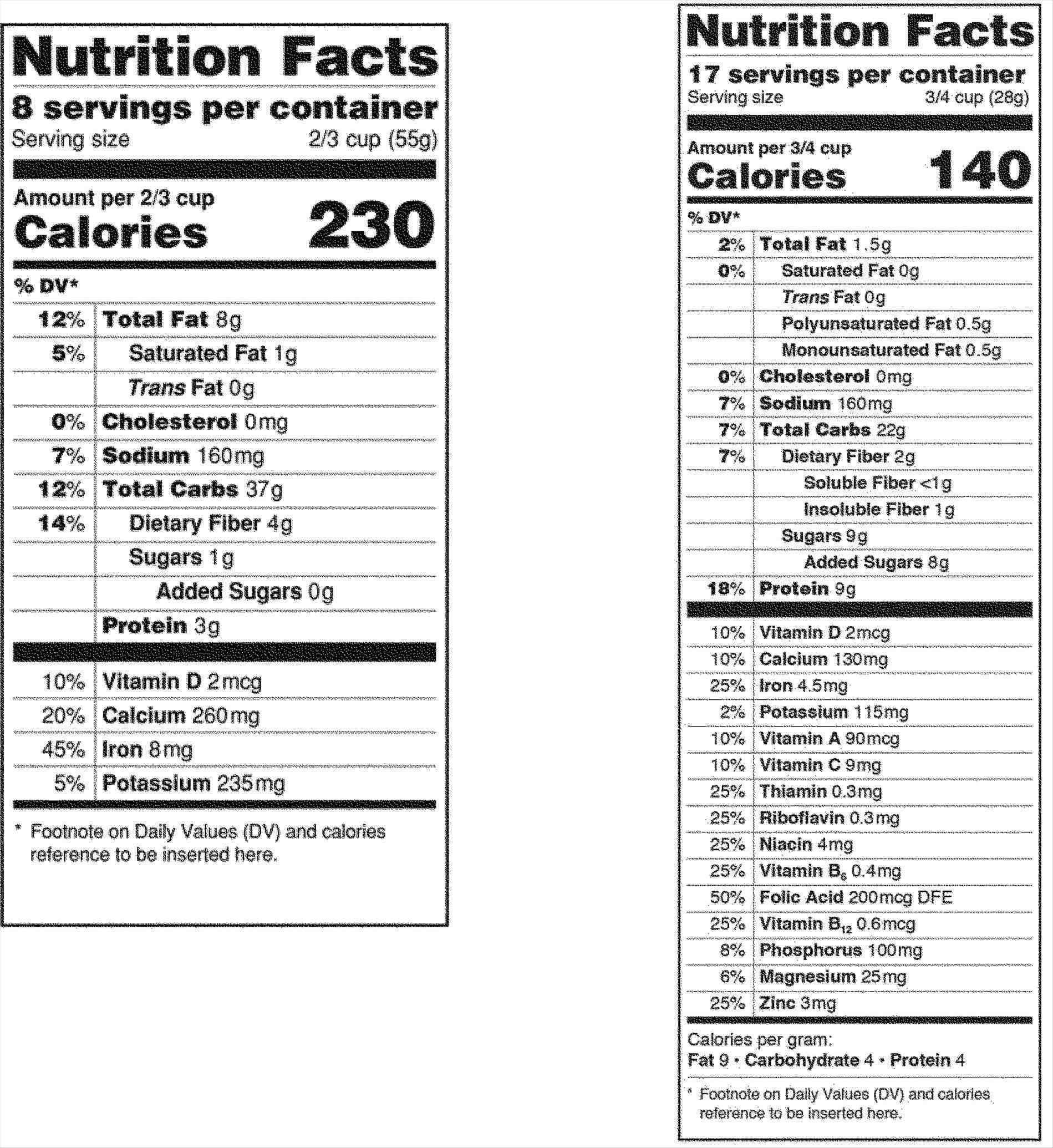 Nutrition Label Template Excel Nutrition Label Template Blank