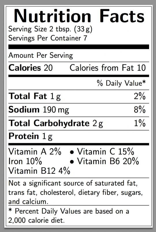 Nutrition Label Template Excel Nutrition Label Template Excel