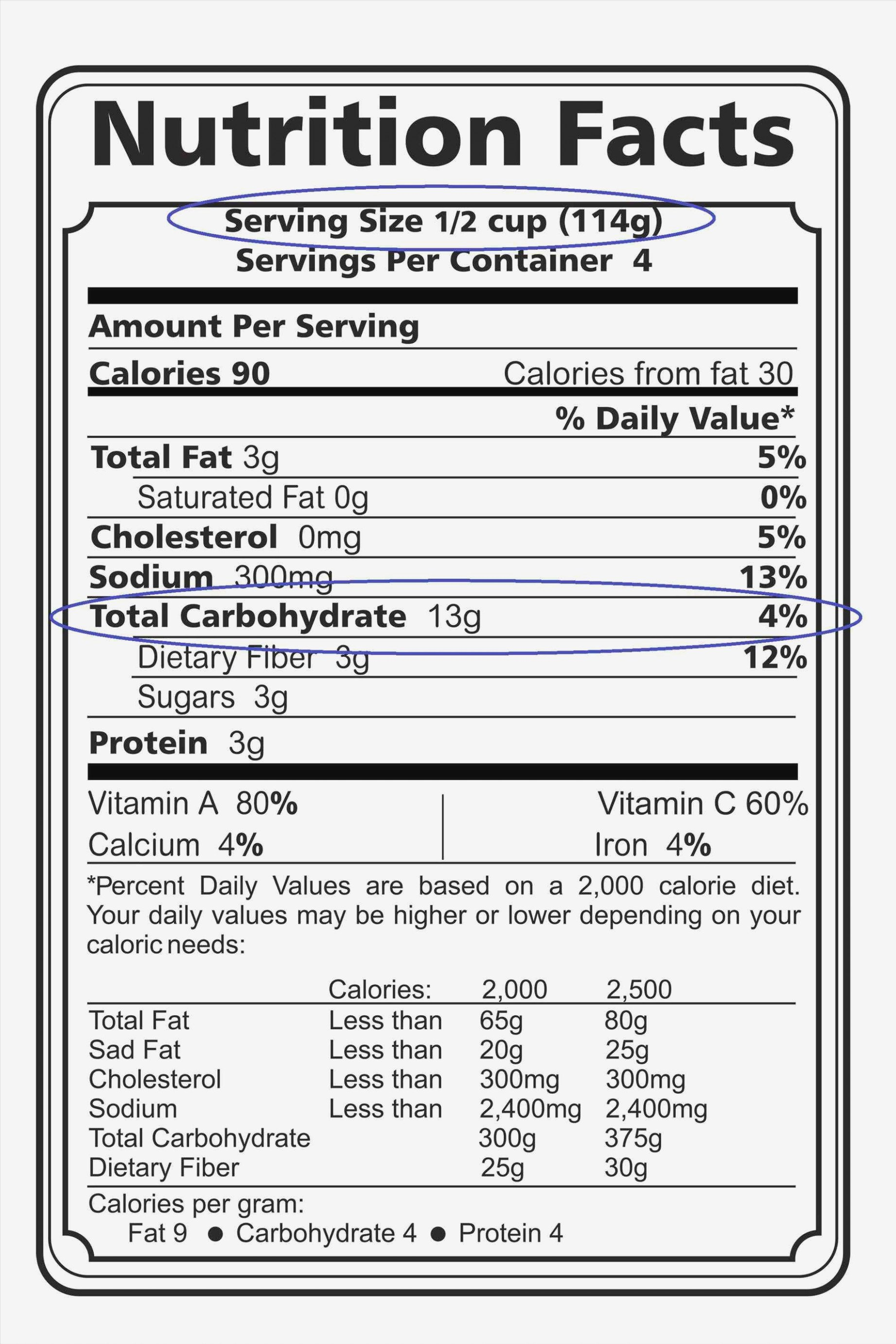 Nutrition Label Template Excel Seven Simple but Important