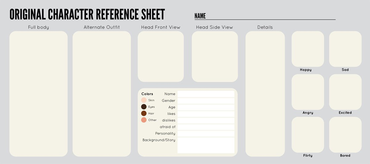 Oc Reference Sheet Template 30 Of Oc Information Template