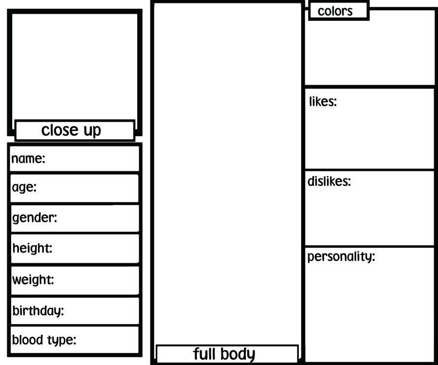 Oc Reference Sheet Template Blank Oc Ref Sheet by Sh3rryb3ar On Deviantart