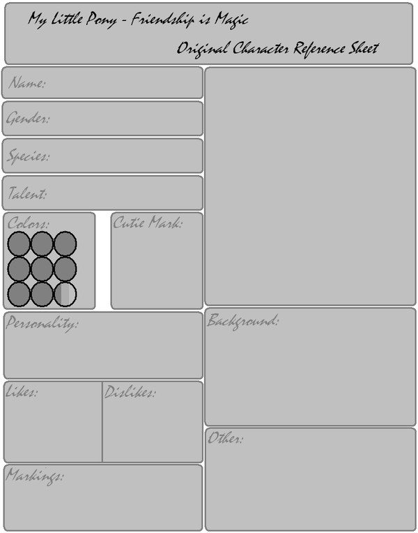 Oc Reference Sheet Template Mlp Oc Reference Sheet Template by Fangirl for Fun On