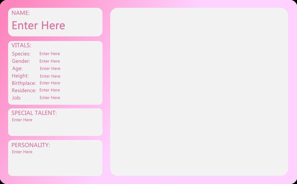 Oc Reference Sheet Template Mlp Oc Sheet Template Small by Outlawquadrant On Deviantart