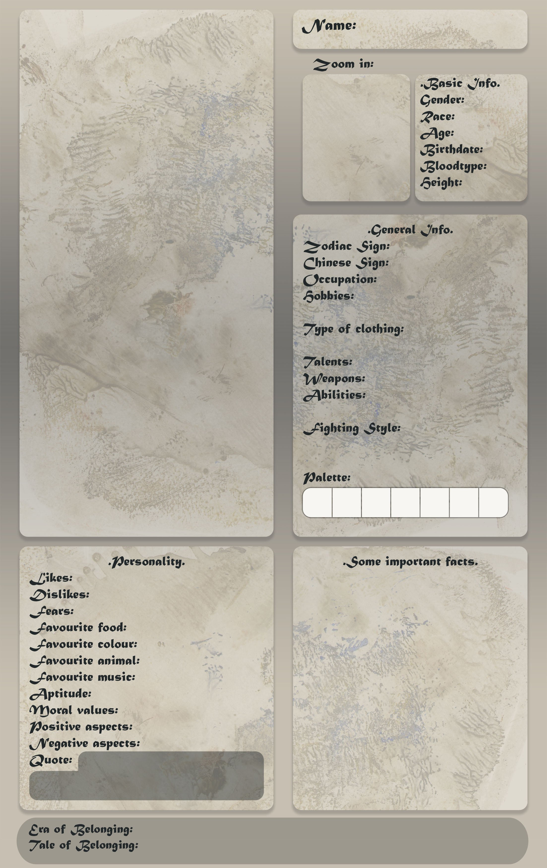 Oc Reference Sheet Template Oc Reference Sheet Template by Cyclonante On Deviantart