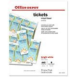Office Depot Raffle Ticket Template Amazon Avery Tickets with Tear Away Stubs 1 75