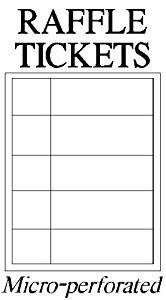Office Depot Raffle Ticket Template Amazon White Raffle Tickets 25 Sheets 125 Raffle
