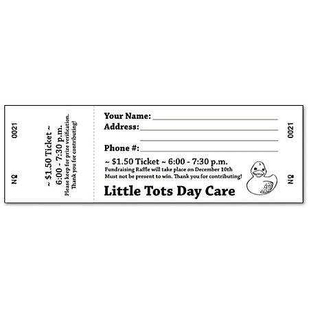 Office Depot Raffle Ticket Template Custom 1 Color Perforated Tickets eventraffle 1 Side Pack