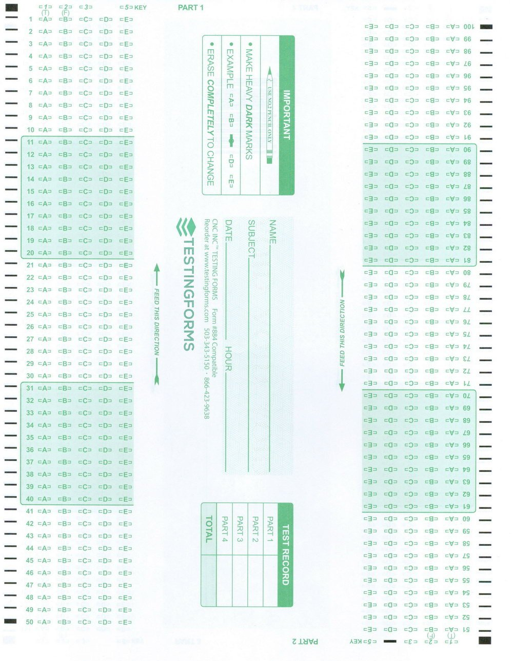 Office Depot Scantron 882 Cms 1500 forms Fice Depot forms 4812