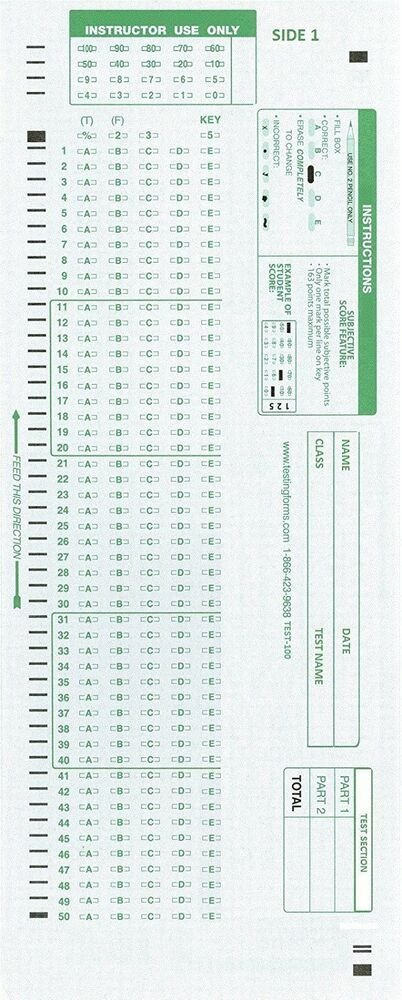 Office Depot Scantron 882 Cnc Inc Test 100e Scantron 882 E Patible Testing forms