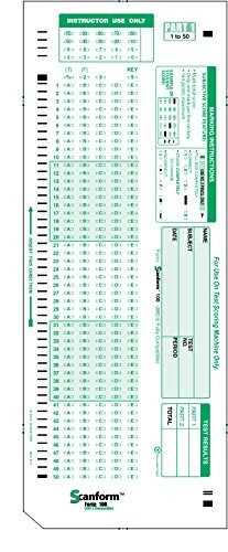 Office Depot Scantron 882 Scantest 100 882 E Patible Testing forms 100 Sheet