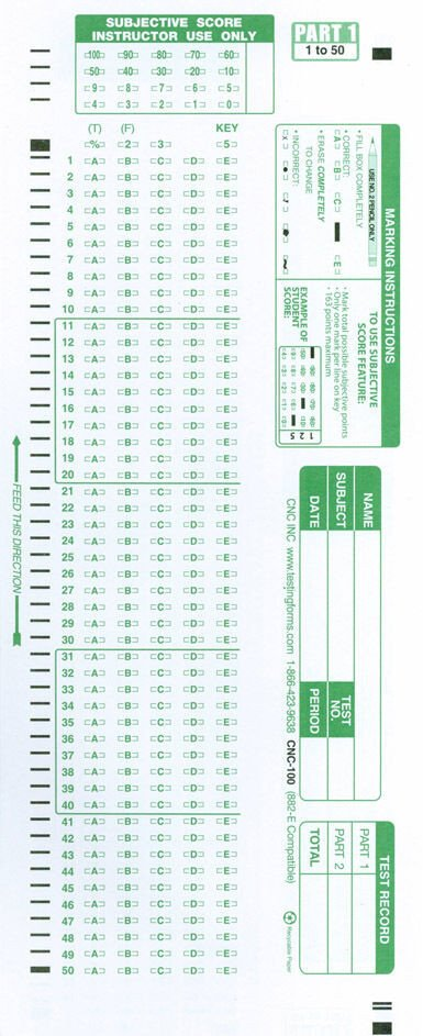 Office Depot Scantron 882 Scantron Patible Test forms 882 E 881 E 882 Lovas 889 E